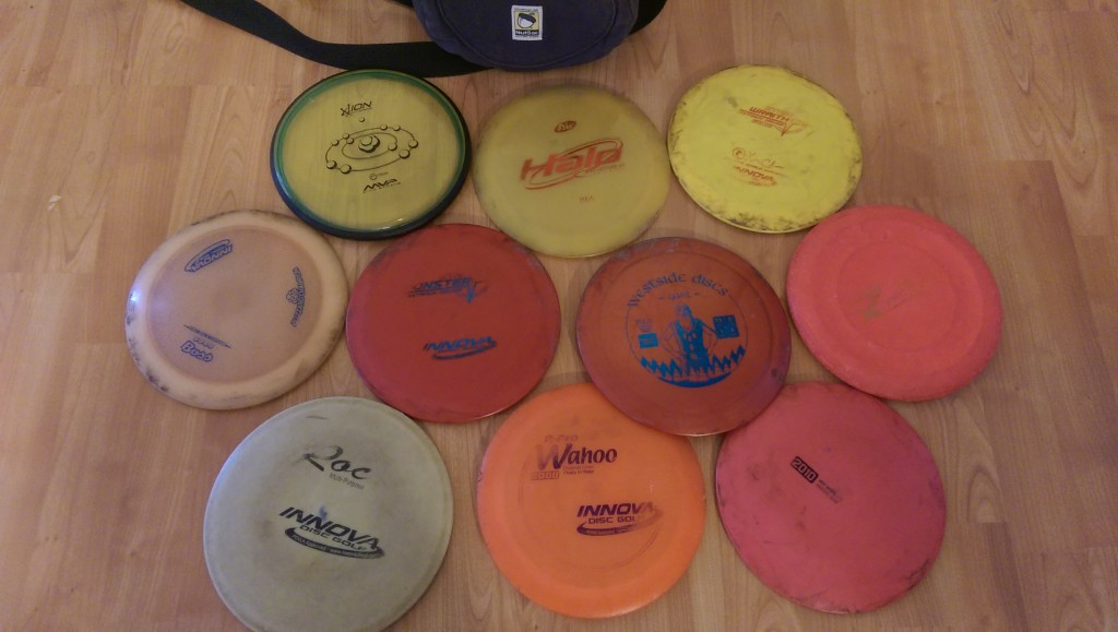 These are the discs that I currently carry in my bag when I'm playing a round